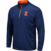 Colosseum Men's Illinois Fighting Illini Blue Embossed Quarter-Zip Performance Shirt