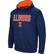 Colosseum Men's Illinois Fighting Illini Blue Fleece Pullover Hoodie
