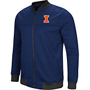 Colosseum Men's Illinois Fighting Illini Blue Sack The QB Full-Zip Bomber Jacket