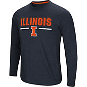 Colosseum Men's Illinois Fighting Illini Blue Touchdown Long Sleeve T-Shirt