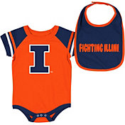 Colosseum Infant Illinois Fighting Illini Orange Roll-Out 2-Piece Onesie Set
