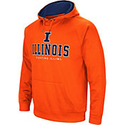 Colosseum Men's Illinois Fighting Illini Orange Fleece Pullover Hoodie