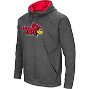 Colosseum Men's Illinois State Redbirds Grey Fleece Pullover Hoodie