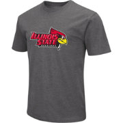 Colosseum Men's Illinois State Redbirds Grey Dual Blend T-Shirt