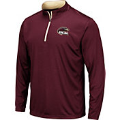 Colosseum Men's Louisiana-Monroe Warhawks Maroon Embossed Quarter-Zip Performance Shirt