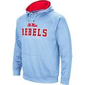 Colosseum Men's Ole Miss Rebels Blue Fleece Pullover Hoodie