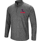 Colosseum Men's Ole Miss Rebels Grey Quarter-Zip Shirt