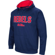 Colosseum Men's Ole Miss Rebels Blue Fleece Pullover Hoodie
