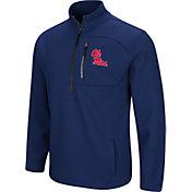 Colosseum Men's Ole Miss Rebels Blue Townie Half-Zip Jacket