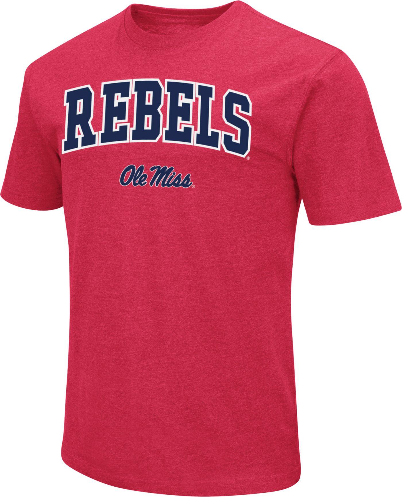 Colosseum Men's Ole Miss Rebels Red Dual Blend T-Shirt