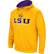 Colosseum Men's LSU Tigers Gold Fleece Pullover Hoodie