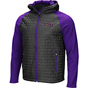 Colosseum Men's LSU Tigers Grey/Purple Baseplate Full-Zip Jacket