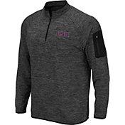 Colosseum Men's LSU Tigers Grey Quarter-Zip Shirt