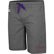 Colosseum Men's LSU Tigers Grey Farmer Fran French Terry Shorts
