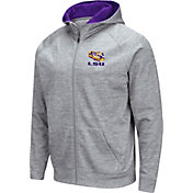 Colosseum Men's LSU Tigers Grey Full-Zip Hoodie