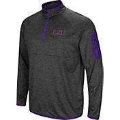 Colosseum Men's LSU Tigers Grey Amnesia Quarter-Zip Shirt