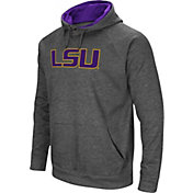 Colosseum Men's LSU Tigers Grey Fleece Pullover Hoodie
