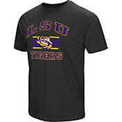 Colosseum Men's LSU Tigers Grey Tri-Blend T-Shirt