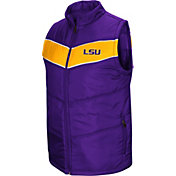 Colosseum Men's LSU Tigers Purple Red Beaulieu Full-Zip Vest