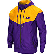 Colosseum Men's LSU Tigers Purple/Gold Galivanting Full Zip Jacket