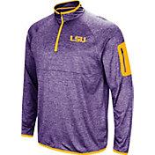 Colosseum Men's LSU Tigers Purple Amnesia Quarter-Zip Shirt