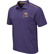 Colosseum Men's LSU Tigers Purple Eagle Polo