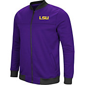 Colosseum Men's LSU Tigers Purple Sack The QB Full-Zip Bomber Jacket