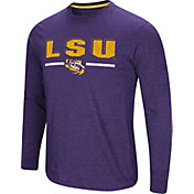 Colosseum Men's LSU Tigers Purple Touchdown Long Sleeve T-Shirt
