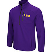 Colosseum Men's LSU Tigers Purple Townie Half-Zip Jacket