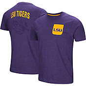 Colosseum Men's LSU Tigers Purple Voodoo Pocket T-Shirt