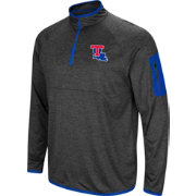 Colosseum Men's Louisiana Tech Bulldogs Grey Amnesia Quarter-Zip Shirt