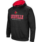 Colosseum Men's Louisville Cardinals Fleece Pullover Black Hoodie