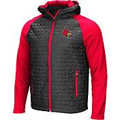 Colosseum Men's Louisville Cardinals Grey/Cardinal Red Baseplate Full-Zip Jacket