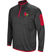 Colosseum Men's Louisville Cardinals Grey Amnesia Quarter-Zip Shirt