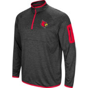 Colosseum Men's Louisville Cardinals Grey Amnesia Quarter-Zip Shirt