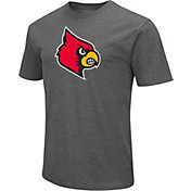 Colosseum Men's Louisville Cardinals Grey Dual Blend T-Shirt