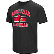Colosseum Men's Louisville Cardinals Grey Tri-Blend T-Shirt