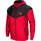 Colosseum Men's Louisville Cardinals Cardinal Red/Black Galivanting Full Zip Jacket