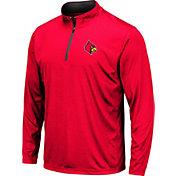 Colosseum Men's Louisville Cardinals Cardinal Red Embossed Quarter-Zip Performance Shirt