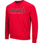 Colosseum Men's Louisville Cardinals Cardinal Red Playbook Fleece