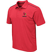 Colosseum Men's Louisville Cardinals Cardinal Red Eagle Polo