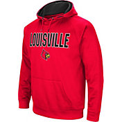 Colosseum Men's Louisville Cardinals Cardinal Red Fleece Pullover Hoodie