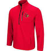 Colosseum Men's Louisville Cardinals Cardinal Red Townie Half-Zip Jacket
