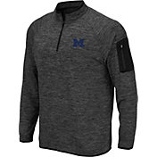 Colosseum Men's Michigan Wolverines Grey Quarter-Zip Top