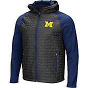 Colosseum Men's Michigan Wolverines Grey/Blue Baseplate Full-Zip Jacket