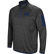 Colosseum Men's Michigan Wolverines Grey Amnesia Quarter-Zip Shirt