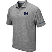 Colosseum Men's Michigan Wolverines Grey Chip Shot Polo