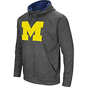 Colosseum Men's Michigan Wolverines Grey Fleece Pullover Hoodie