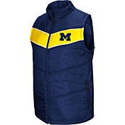 Colosseum Men's Michigan Wolverines Blue Red Beauleiu Full-Zip Vest