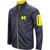 Colosseum Men's Michigan Wolverines Blue Glacier Full-Zip Jacket